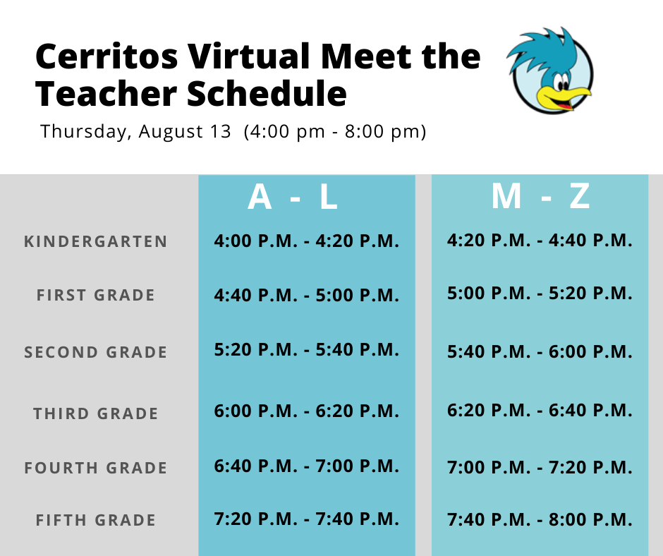Virtual Meet the Teacher Night @ Virtual Zoom Meeting