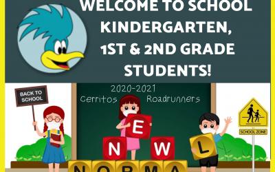 Welcome Kindergarten, 1st & 2nd Grade Students!