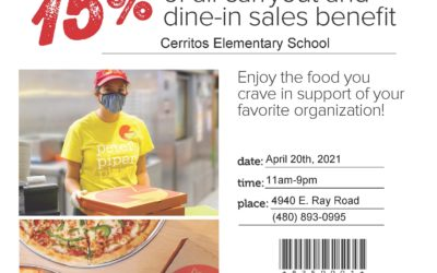 TODAY is Peter Piper Pizza Spirit Day!