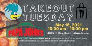 Papa John's Pizza Spirit Day - Takeout Tuesday Fundraiser @ Papa John's Pizza